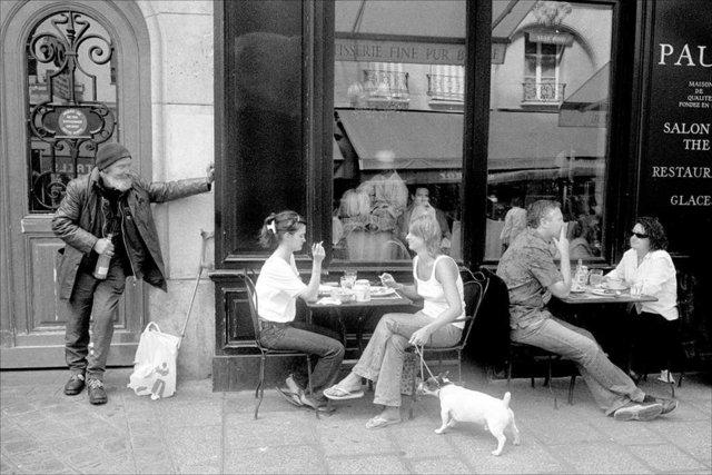 Outside a Café