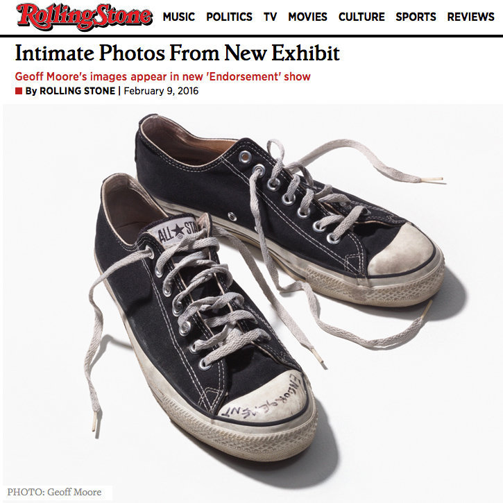 "Rolling Stone story on my art show ""ENDORSEMENT"""