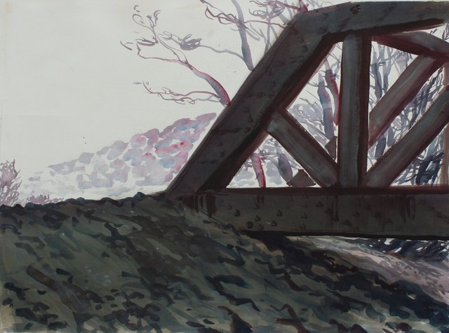 Rail Bridge   22 x 29""