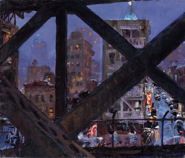 "Manhattan Bridge Girders I, 20 x 24"" sold"