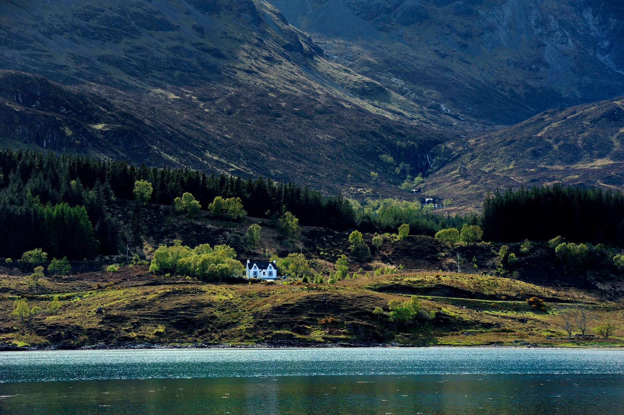 La maison de Loch Slapin, île de Skye