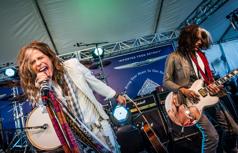 Steven Tyler and Joe Perry at John Varvatos Stuart House Benefit