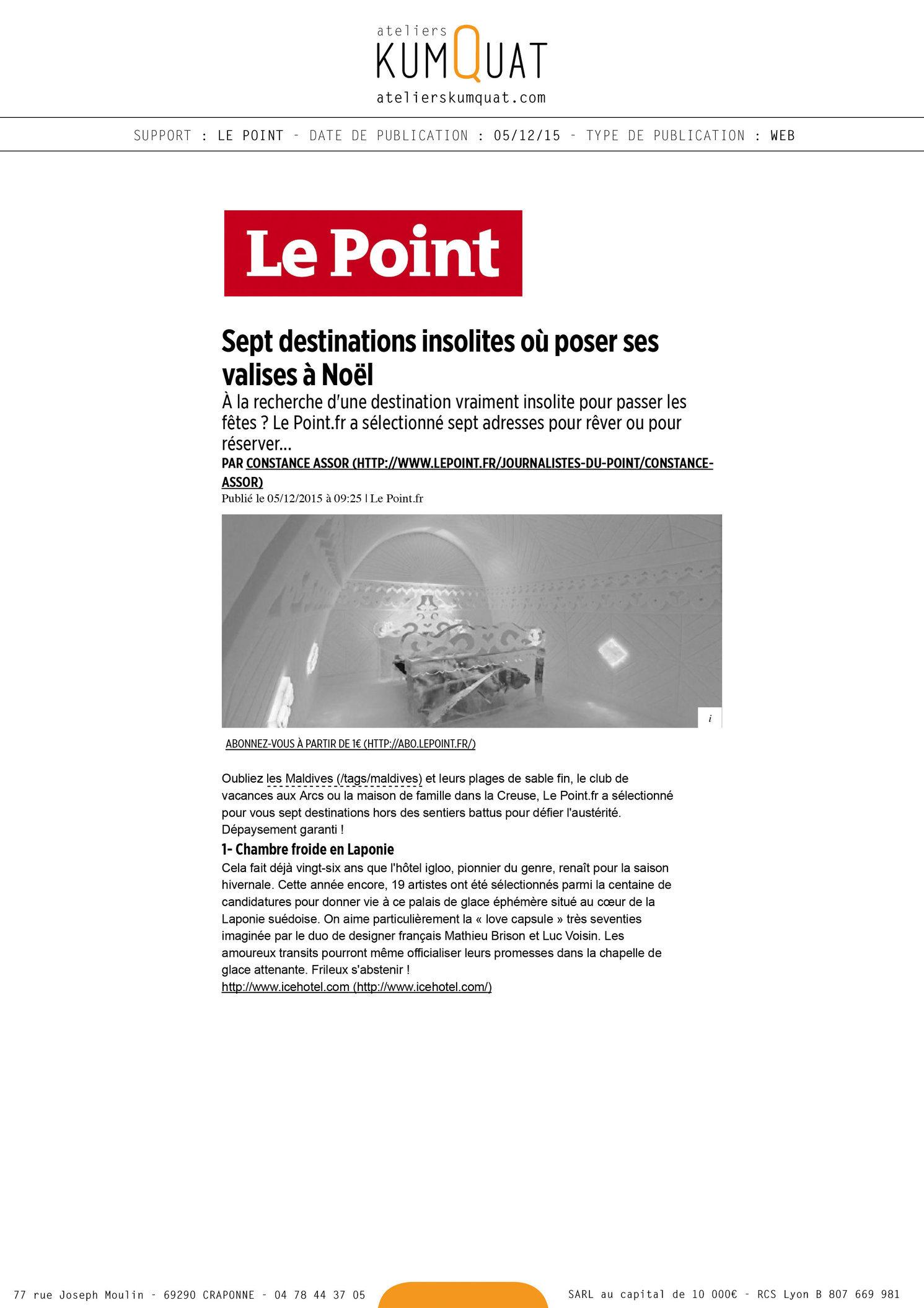 LE POINT - 05/12/15