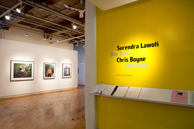 Installatio shot - Don River, Gallery 44, Toronto, May 2011