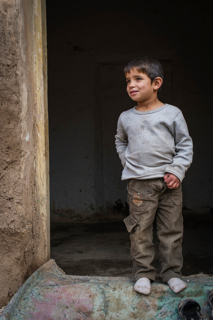 Young boy, Mesher, Turkish Kurdistan, 2014
