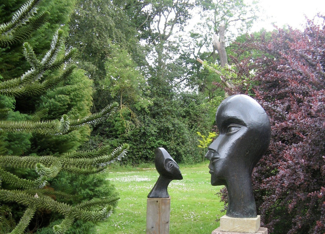 Man and Woman  1999   68 x 47 x 45 cm  Bronze Resin    at the Bevere Gallery 2011   Both RP £2850