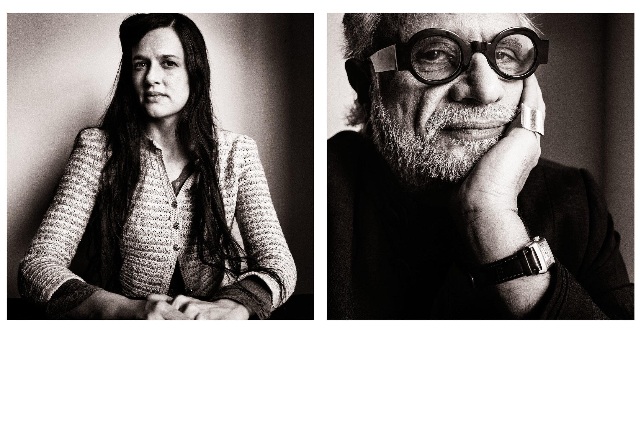 German Vogue. Taryn Simon and Homi K. Bhabha. April 2016.