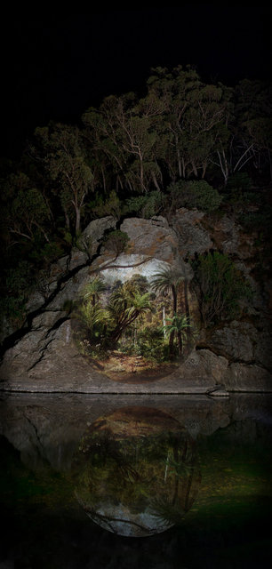 Apparitions #2, Projection - Fern Tree Gully in the Dandenong Ranges, 1857, Eugene von Guerard