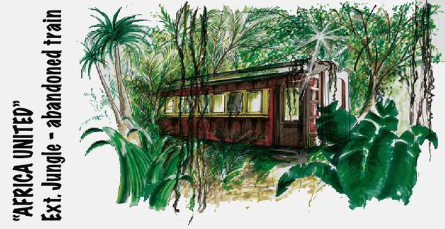Congo Jungle - Abandoned train