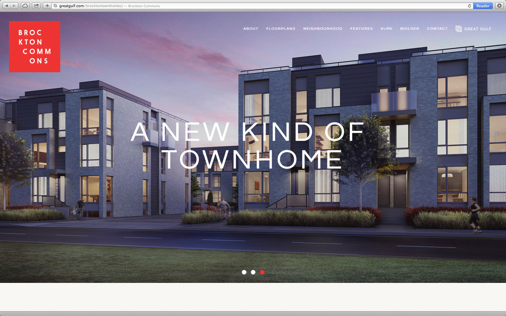 BROCKTON COMMONS TOWNHOMES WEBSITE  3/13