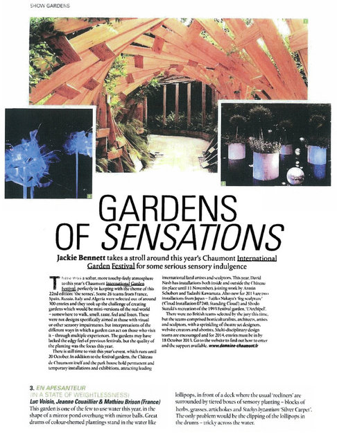 GARDEN DESIGN JOURNAL (Angleterre) - OCT. 13