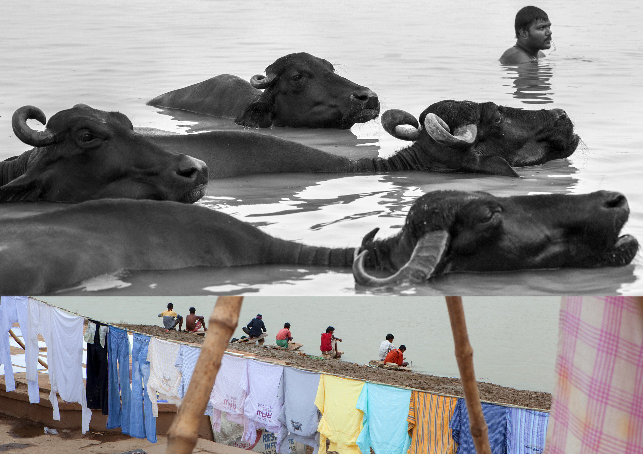 River life, Ganges, Benares