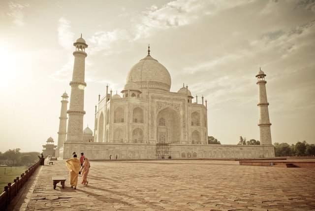 Taj Mahal in Golden