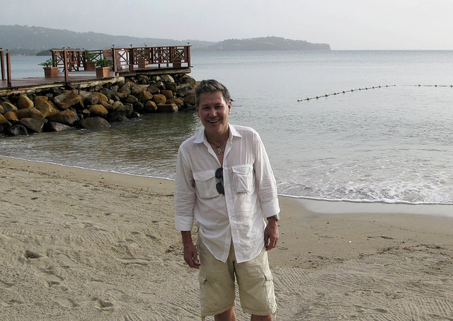 Here I am in St Lucia getting ready for a magazine.jpg
