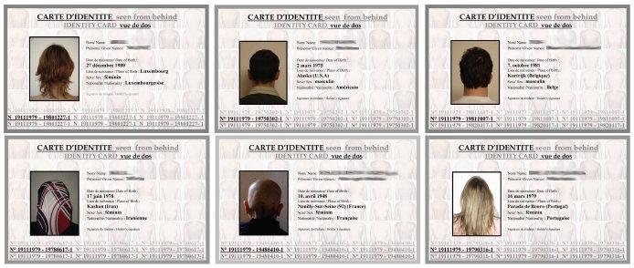 Carte d'identité de dos, 2004 (exemples)