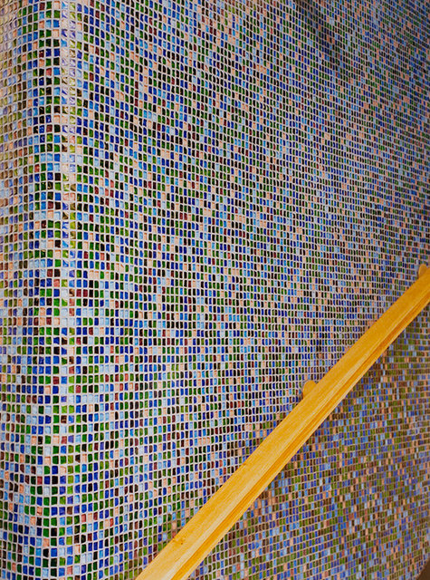 Mosaic wall,Hotel Jestred/60's interior