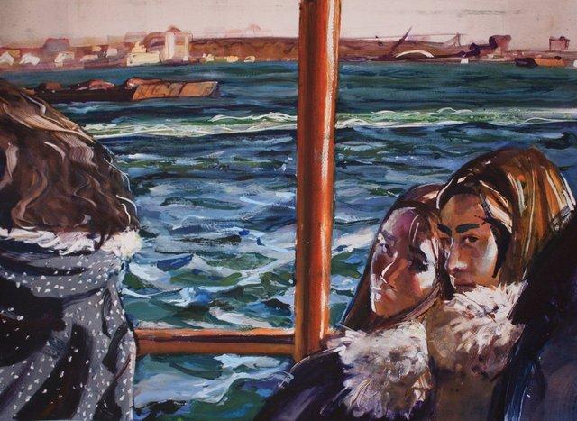 "Staten Island Ferry    22 x 28"""