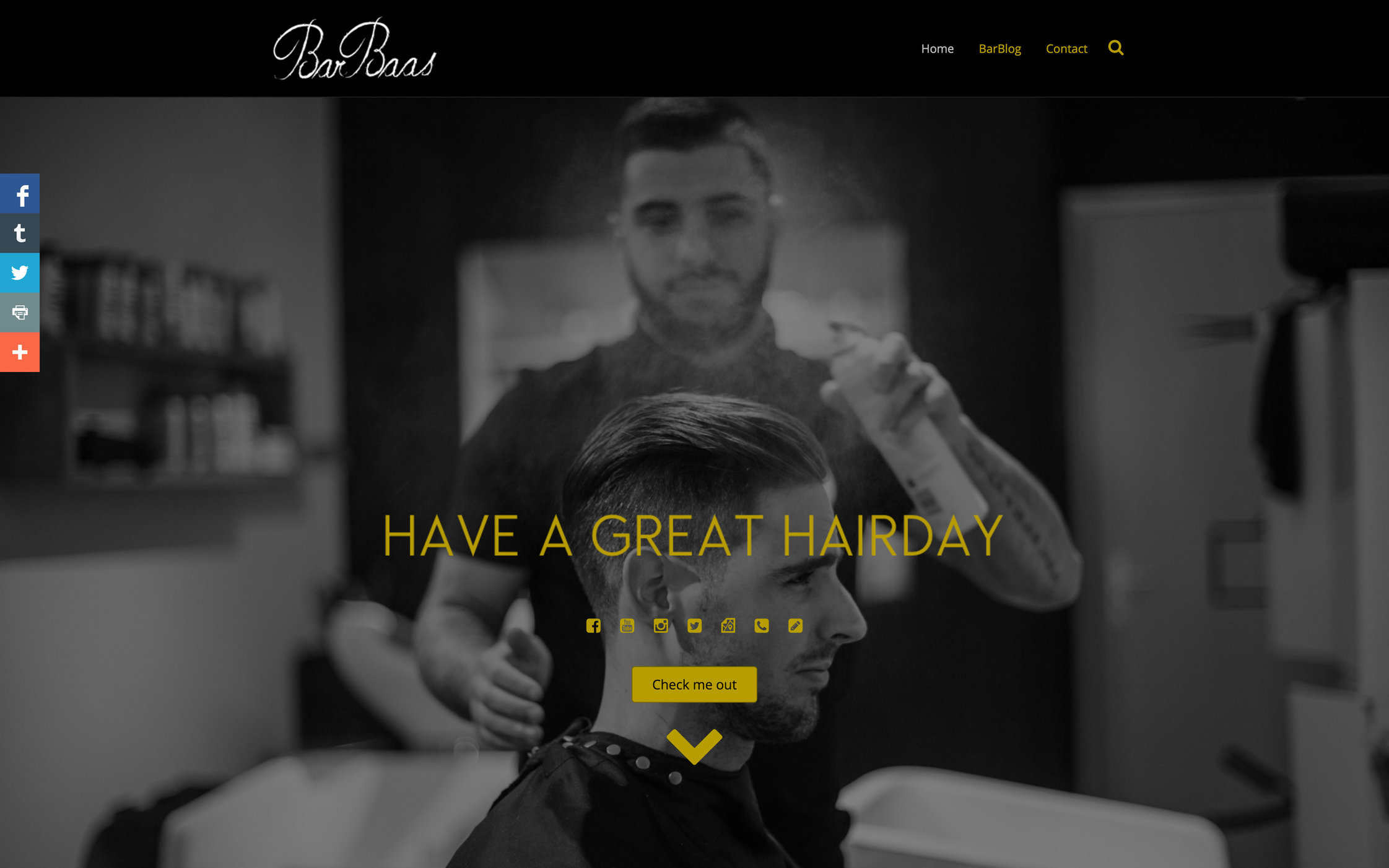 Webdesign for BarBaas