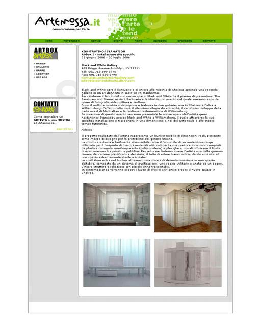 Artemossa comunicazioni per l'arte, 2006