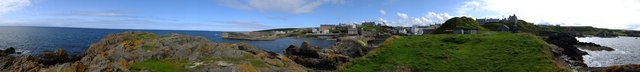 Panoramic Portsoy 2 by Alison Gracie