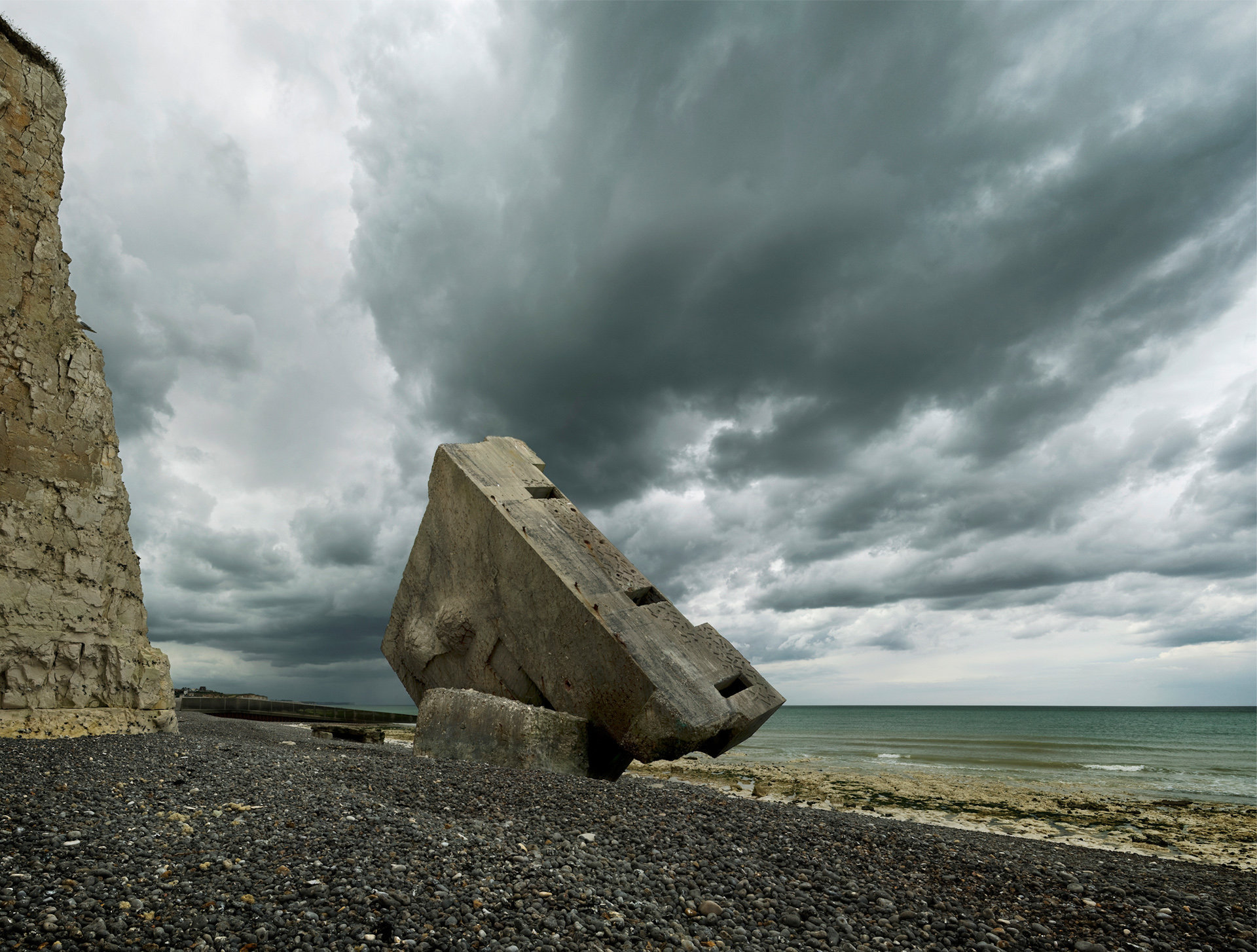 Blockhaus du Mur de l'Atlantique, Haute-Normandie, 2009