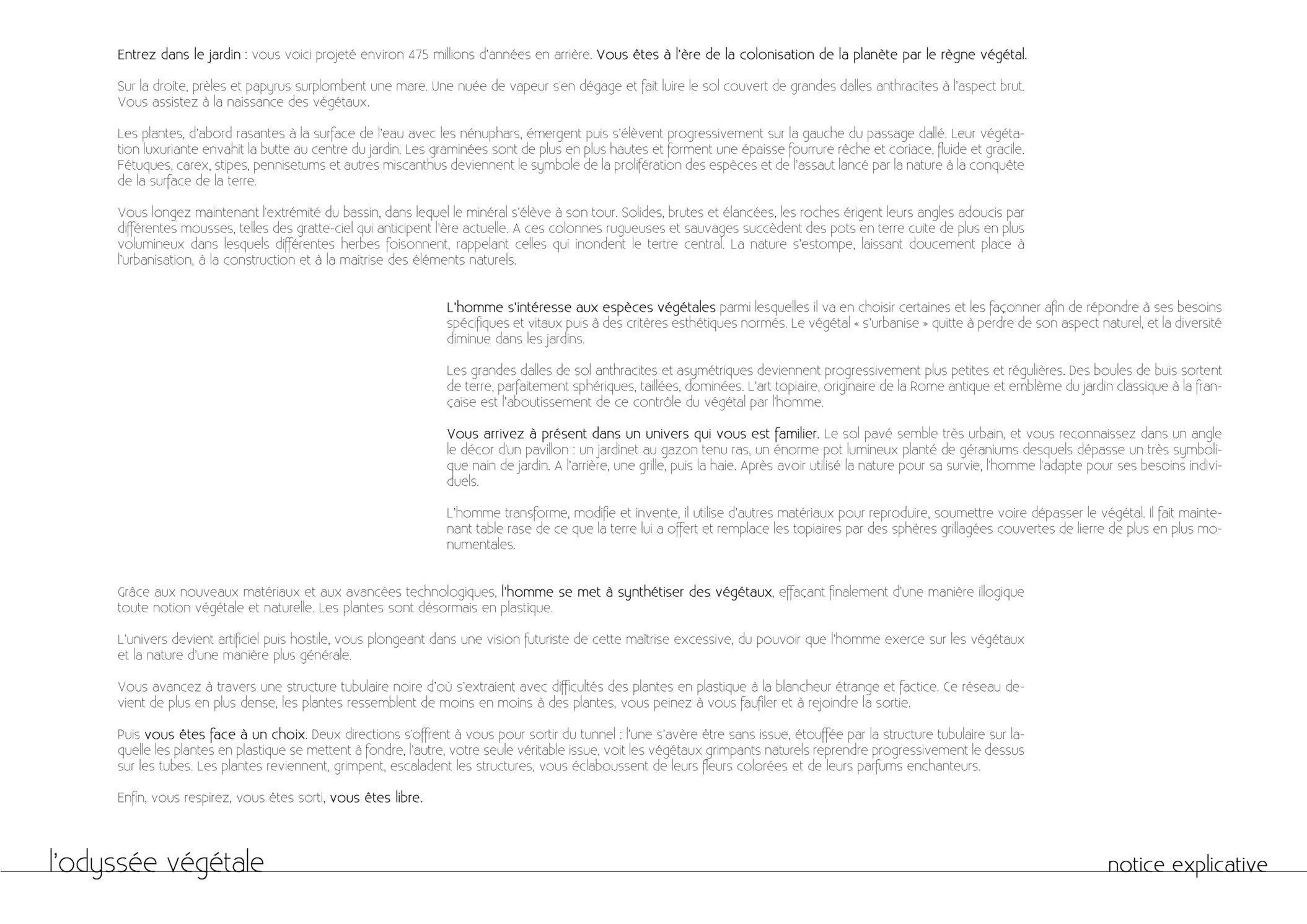 planche concours / texte explicatif