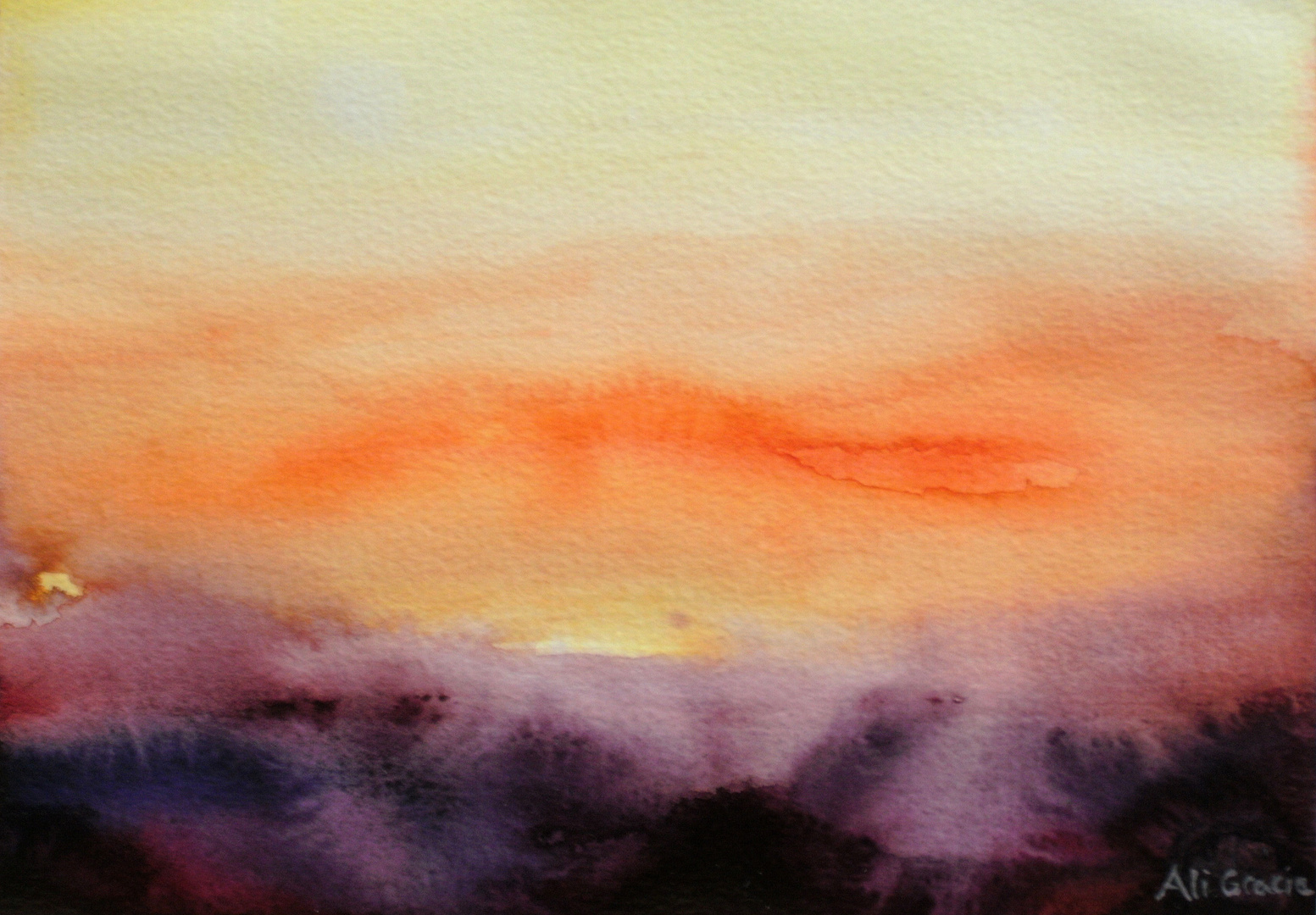 Orange Haze at Sunset by Alison Gracie