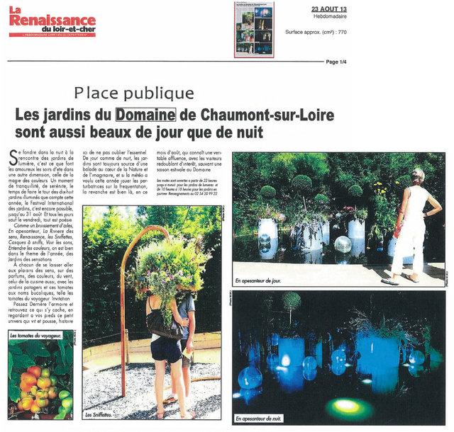 LA RENAISSANCE DU LOIR ET CHER - 23/08/13