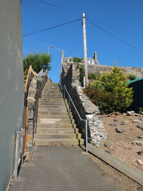 Gillans Steps and Deep Blue Sky by Alison Gracie