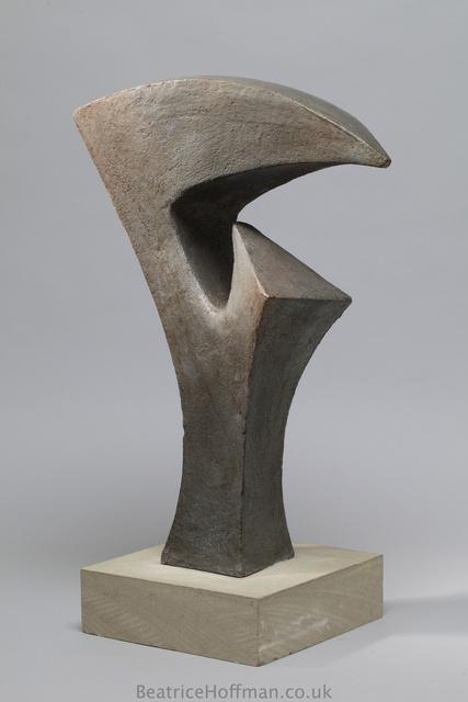 A 6 Crane Form 2008  Painted Ceramic 6X40X20cm