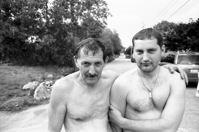 My uncle, Viktor and his son, Vladislav.