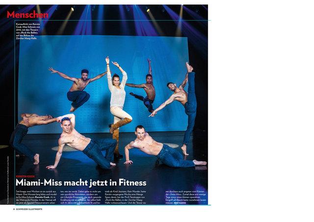 Kerstin Cook und The Rock Ballet, Schweizer Illustrierte, Januar 2015