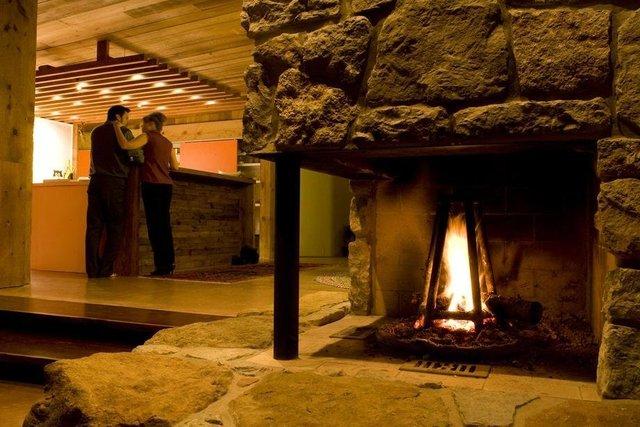 """""""Lowder House"""" interior, kitchen & fireplace"""