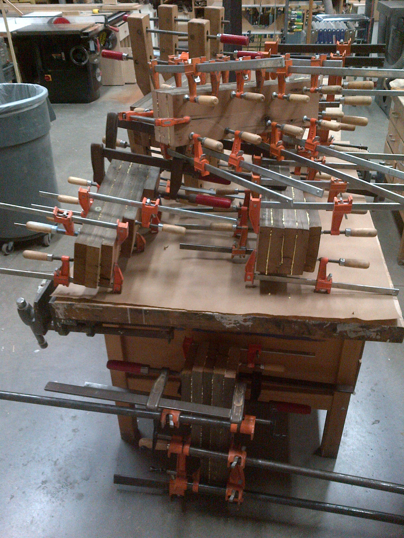 One can never have too many clamps - or hands