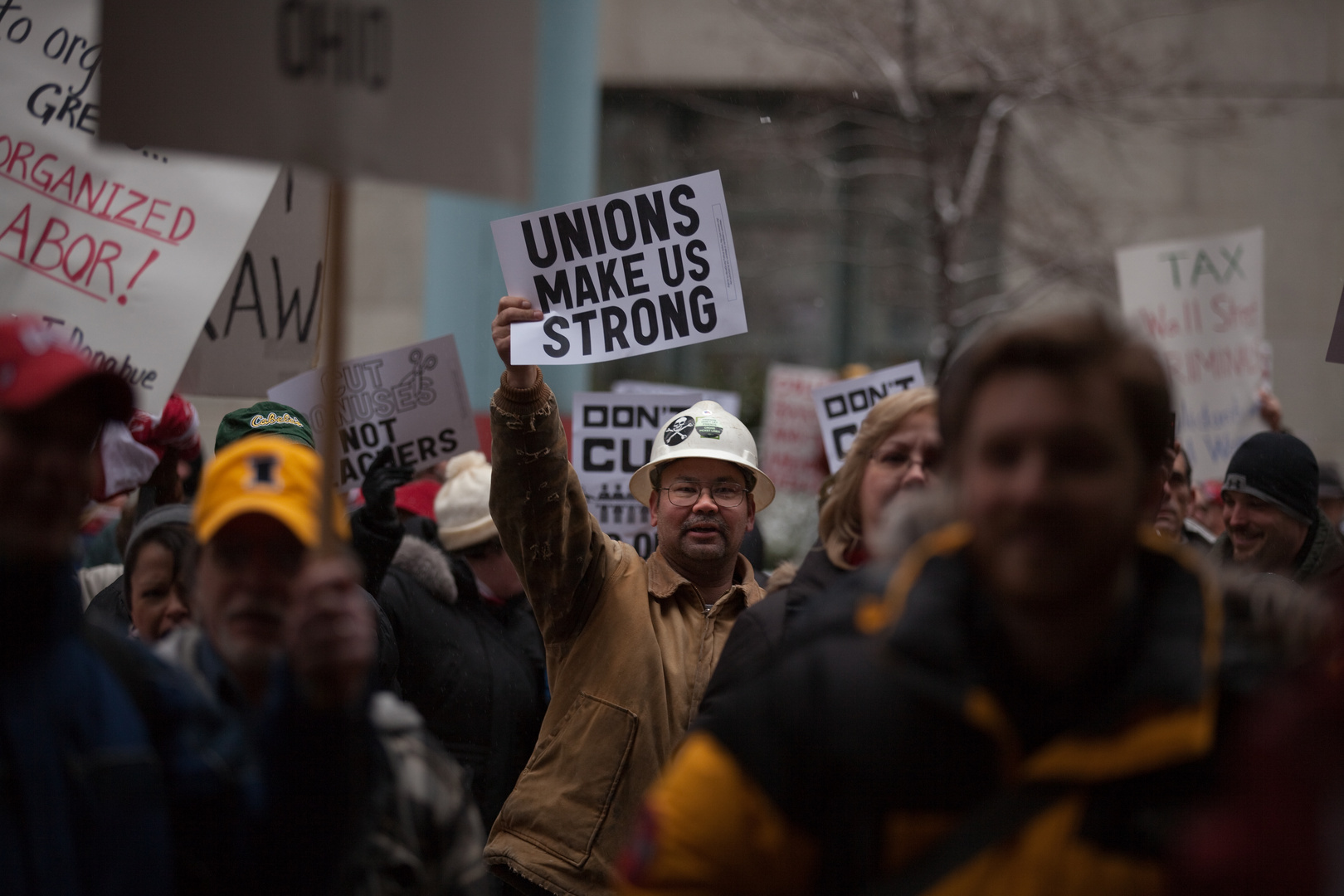 Union Rally In Support of Wisconsin