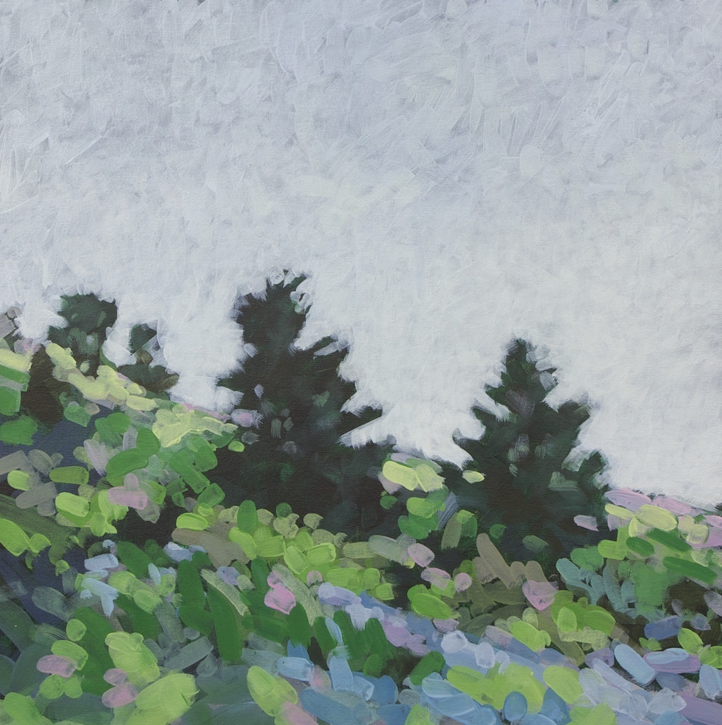 Two Pines, Prouts Neck, Acrylic on Canvas, 24 x 24 in.