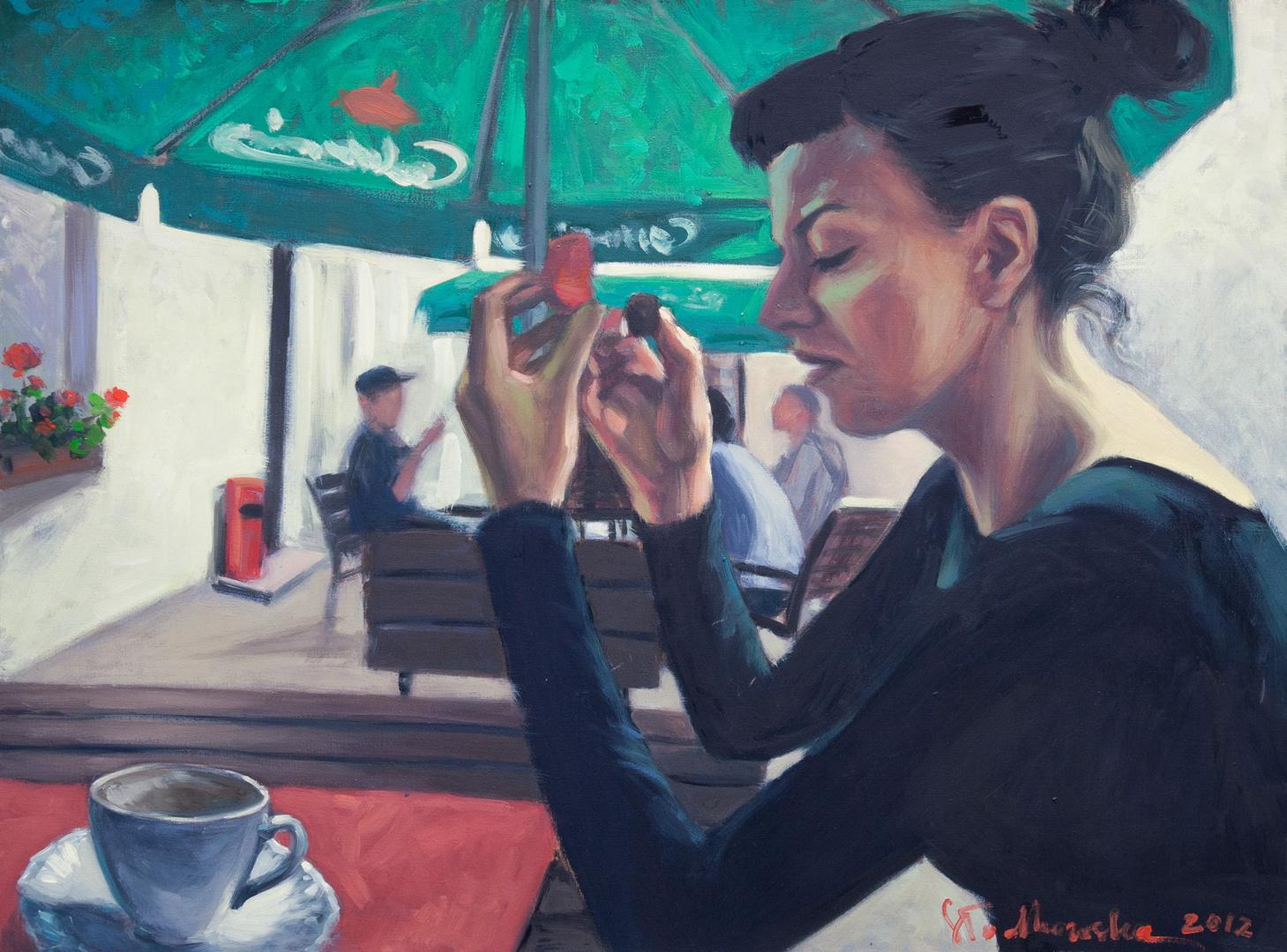 Just coffe, 73x54 olej płótno 2011
