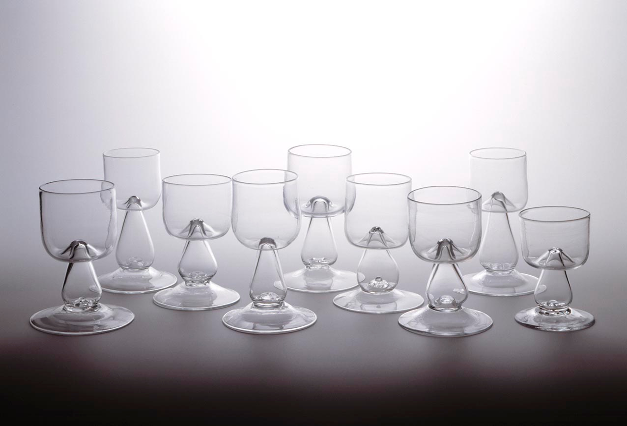 Nine Wine Glasses