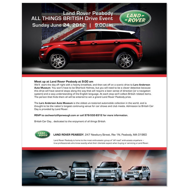 Land Rover Peabody email blast