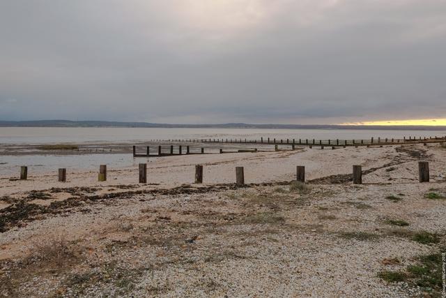 Dusk at Shellness beach