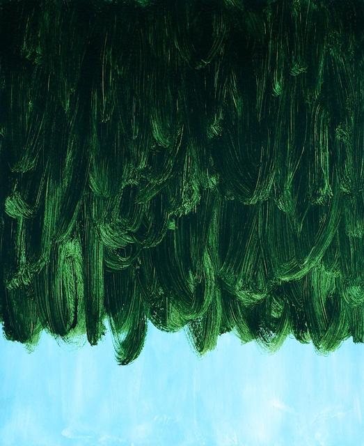 Deep Green Falling on Pale Blue, 2011.