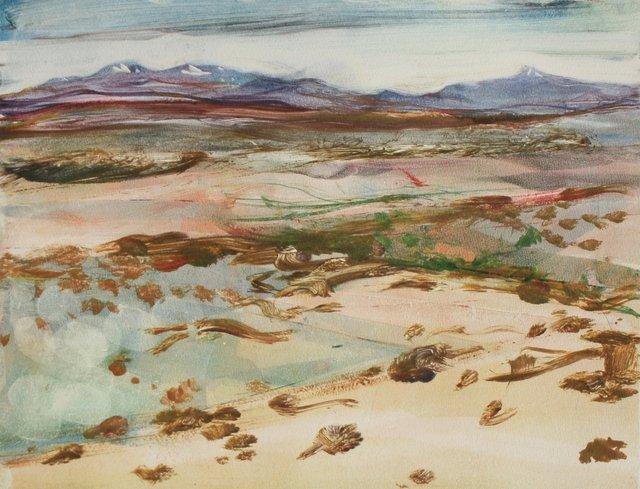 """Santa Fe Mountains    10 x 13"""""""