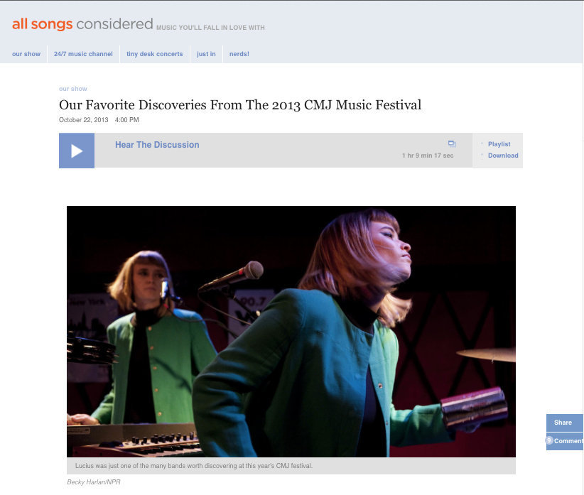 All Songs Considered, NPR