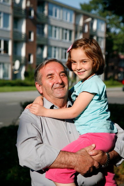 turkse man met dochter