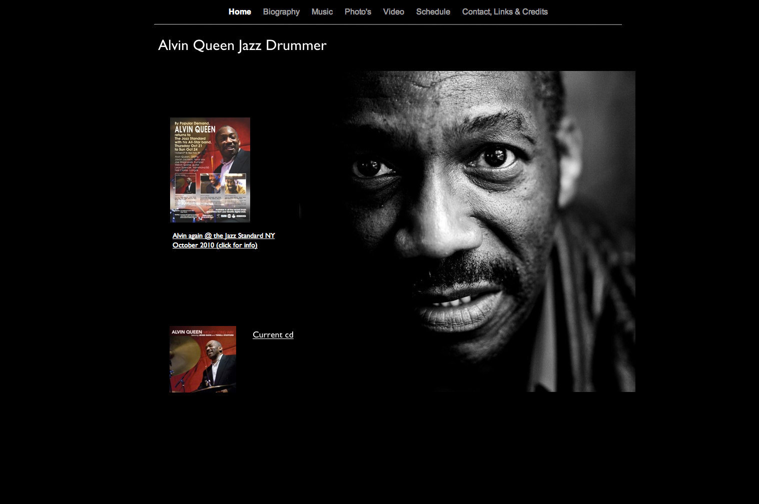 Alvin Queen website