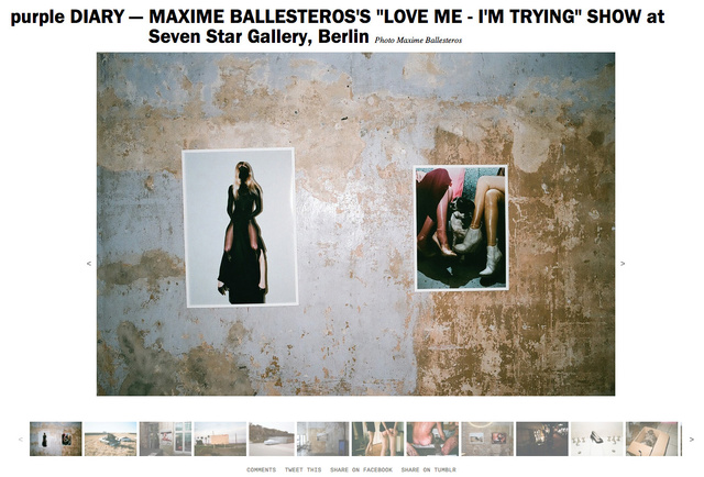 purple DIARY   MAXIME BALLESTEROS S  LOVE ME   I M TRYING  SHOW at Seven Star Gallery  Berlin.jpg