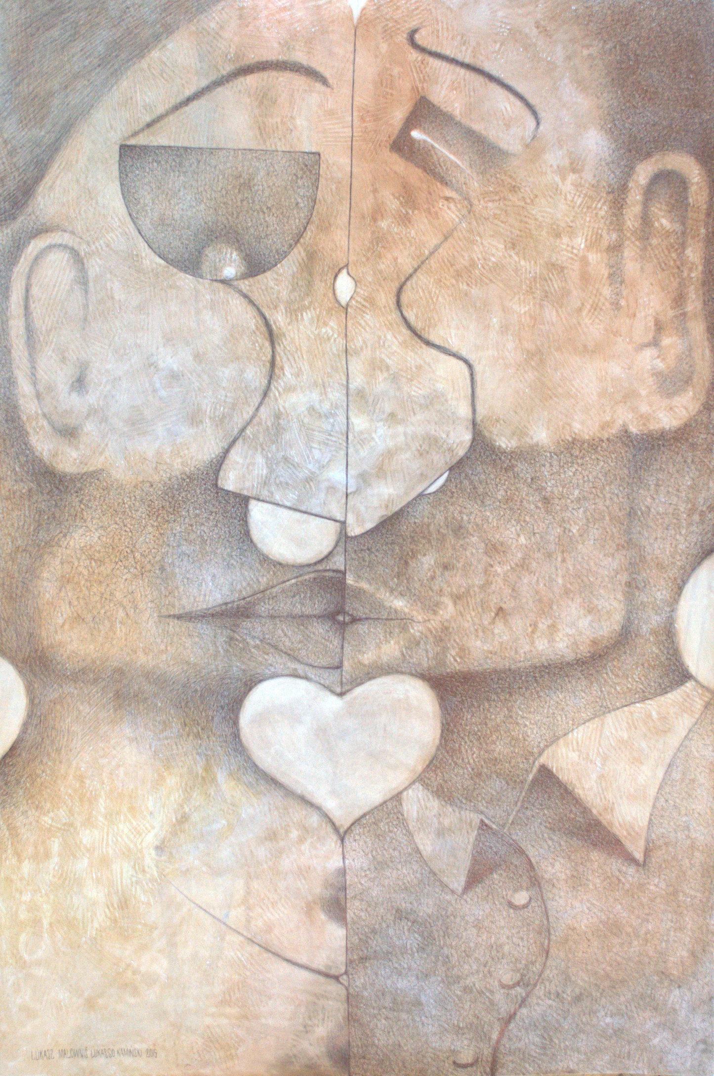 Pocałunek6 tech. mieszana papier 50x70 2015