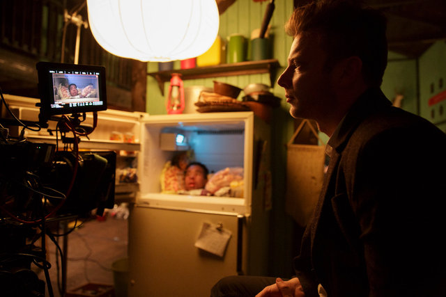 Todd Strauss-Schulson on the set of THE FINAL GIRLS