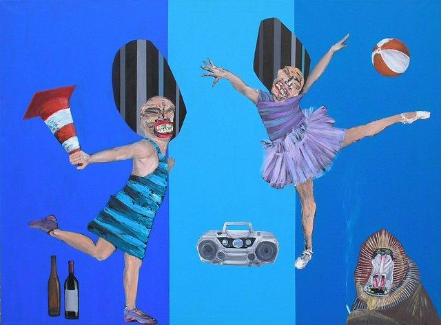 Dance 150x200 akryl płótno 2013