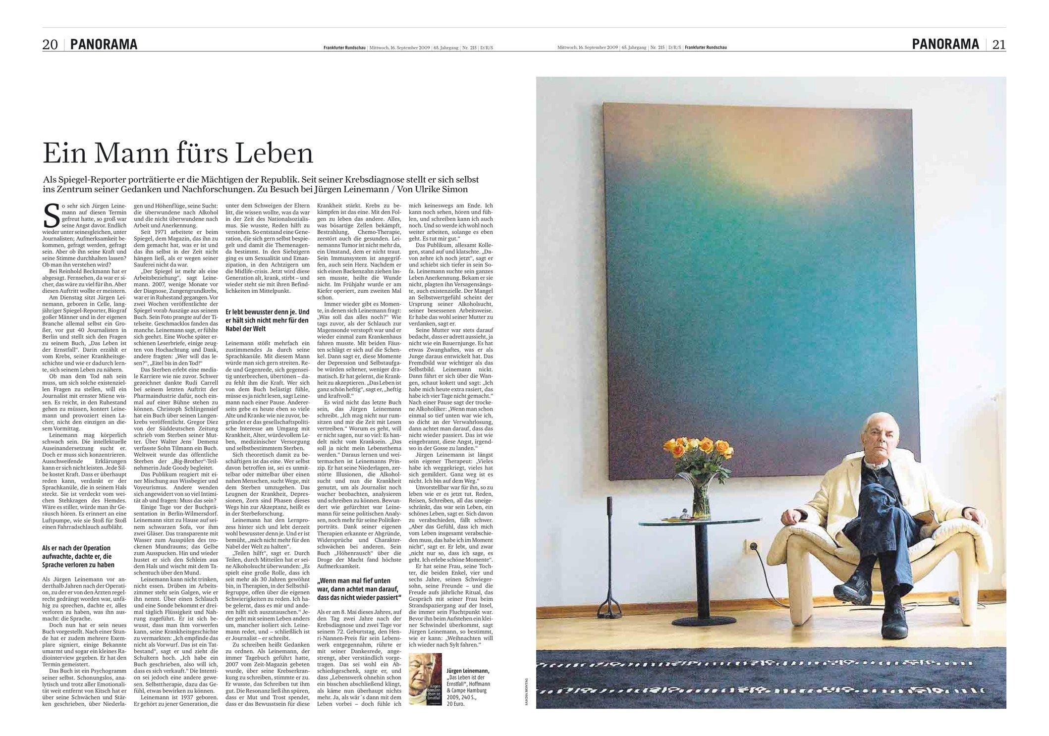 Frankfurter Rundschau 16.09.2009